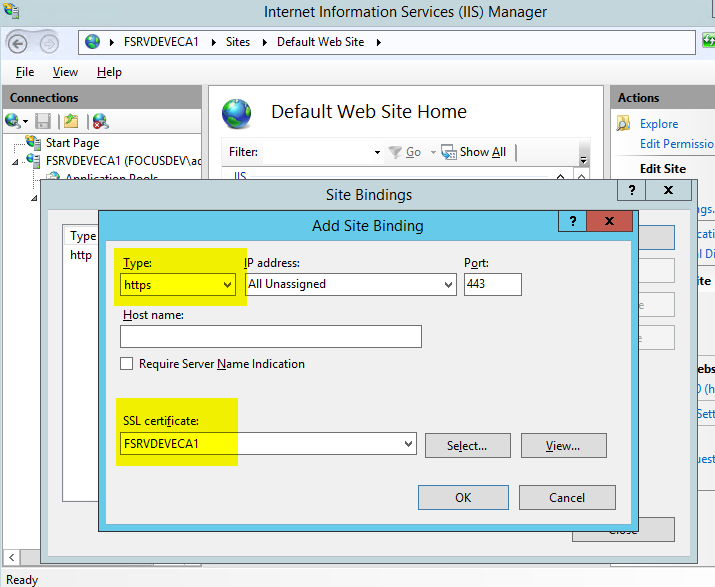 HOWTO: Install a 2 tier Windows 2012 R2 AD Integrated PKI